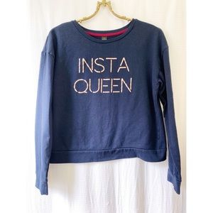 ✨4/$24✨ Insta Queen sweatshirt